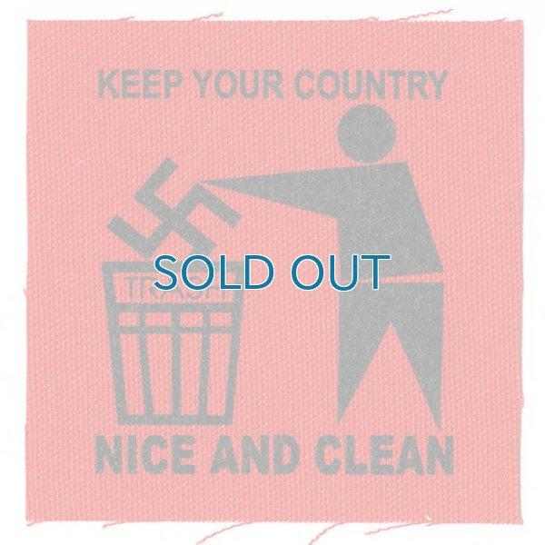 画像1: Keep Your Country Clean / Logo  Cloth パッチ (1)