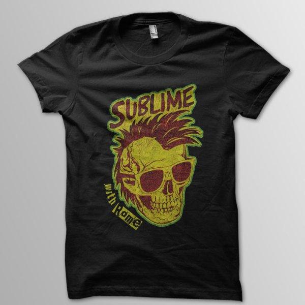 画像1: Sublime With Rome / Sunglasses Skull T/S (1)