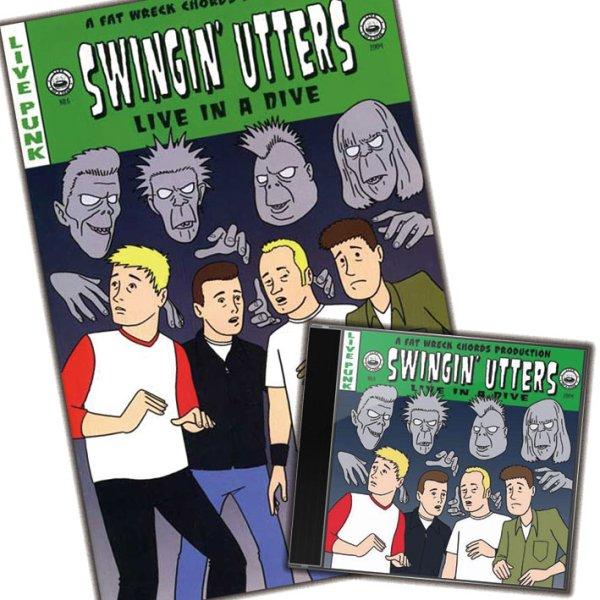 画像1: Swingin' Utters / Live In A Dive [Comic Book セット] (1)