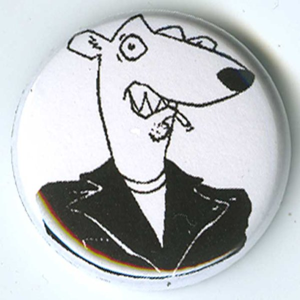 画像1: Screeching Weasel / White Weasel Face バッヂ (1)