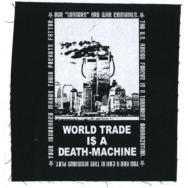 画像1: Leftover Crack / World Trade Is A Death Machine バックパッチ (1)