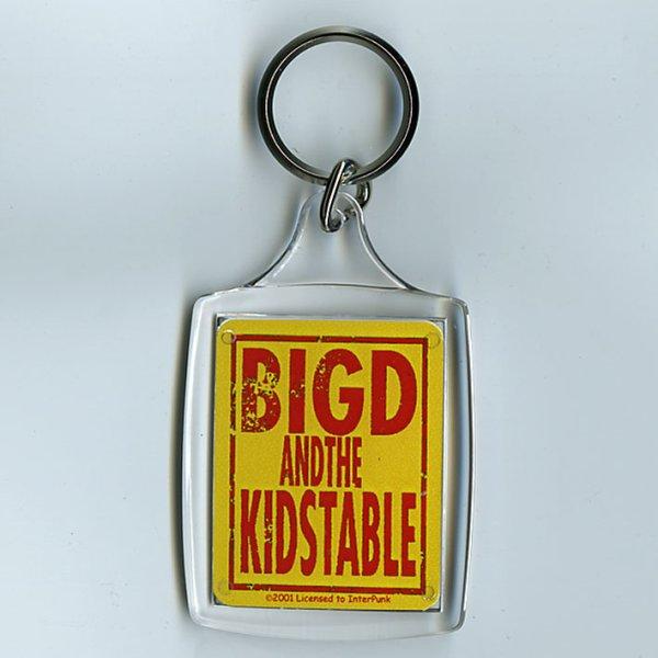 画像1: Big D and The Kids Table / Red Logo On Yellow キーホルダー (1)
