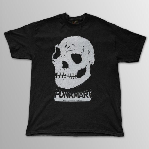 画像1: Punkmart / Skull White T/S (1)