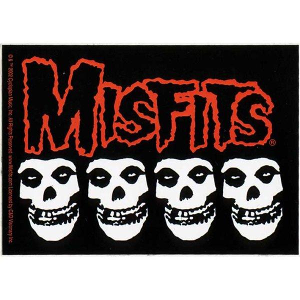 画像1: The Misfits / Four Skull ステッカー (1)
