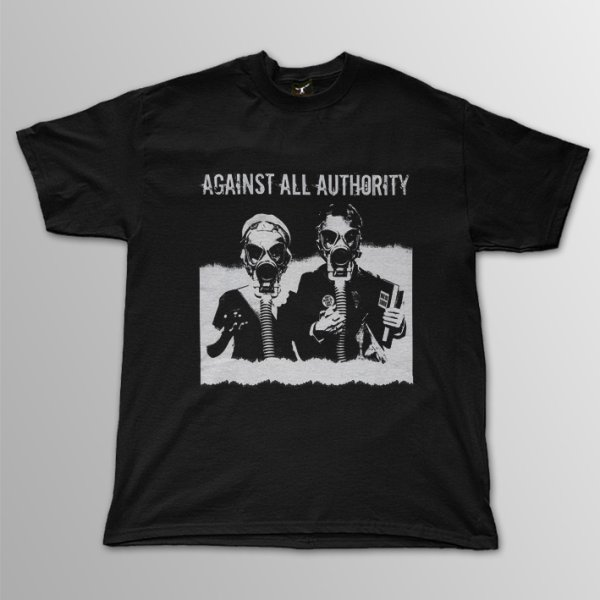 画像1: Against All Authority / Gas Mask T/S (1)