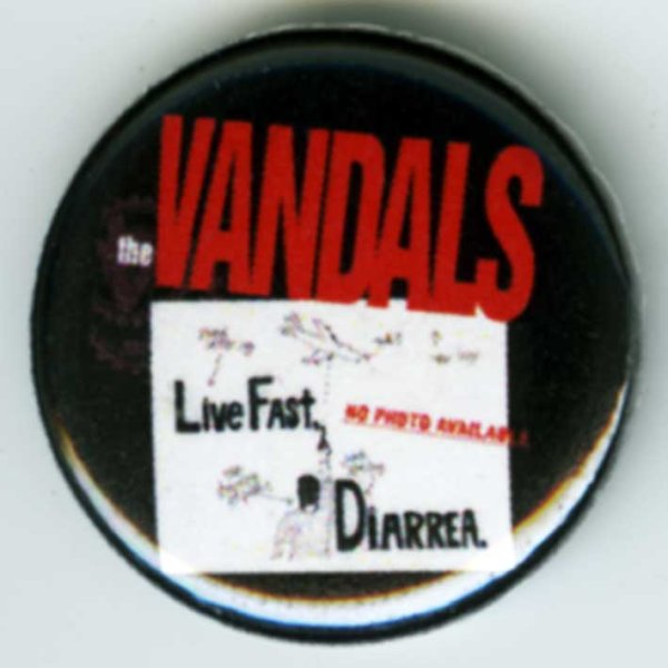 画像1: The Vandals / Live Fast Diarrhea バッヂ (1)