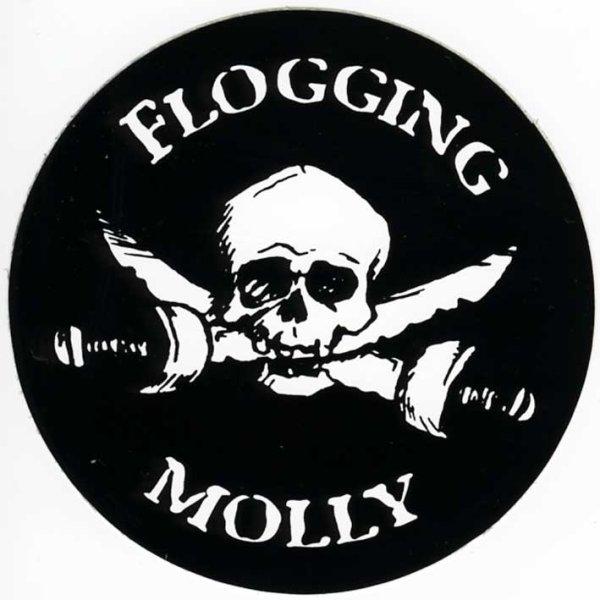 画像1: Flogging Molly/Skull ステッカー (1)
