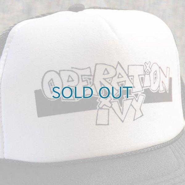 画像1: Operation Ivy / Logo (White/Black) キャップ (1)