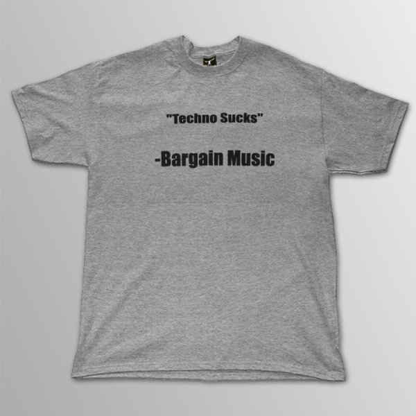 画像1: Bargain Music / Techno Guy [グレー] T/S (1)