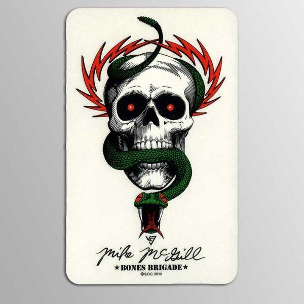 画像1: Powell Peralta Skateboards / Bones Brigade LTD McGill Skull & Snake ステッカー (1)