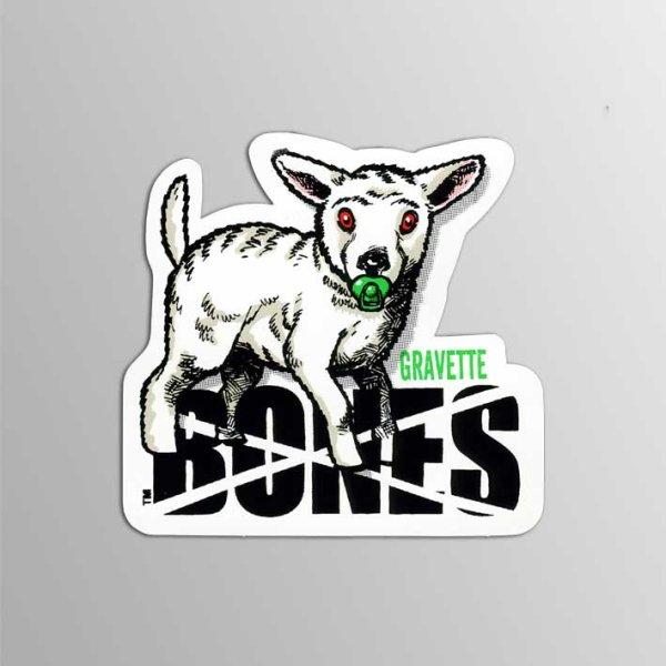 画像1: Bones Wheels / Bones Gravette Pacifier ステッカー (1)
