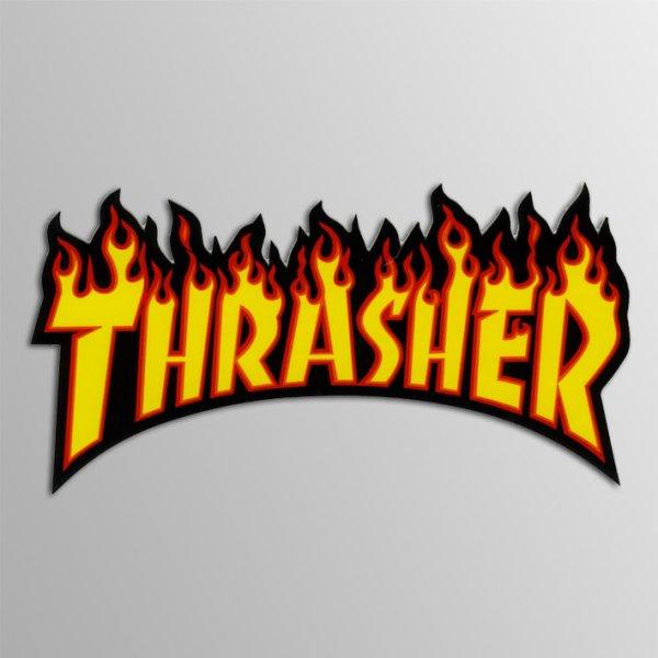 画像1: Thrasher Magazine / Thrasher Flame YLxBK Midium ステッカー (1)