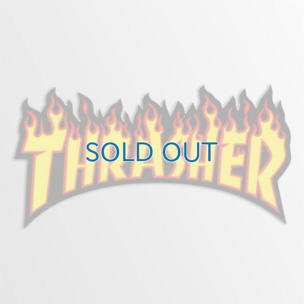画像1: Thrasher Magazine / Thrasher Flame YLxBK Small ステッカー (1)