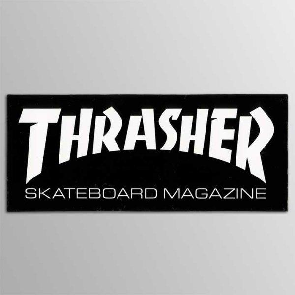 画像1: Thrasher Magazine / Thrasher Logo BK ステッカー (Medium) (1)