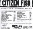 画像2: Citizen Fish / Psychological Background Report [CD-R] (2)