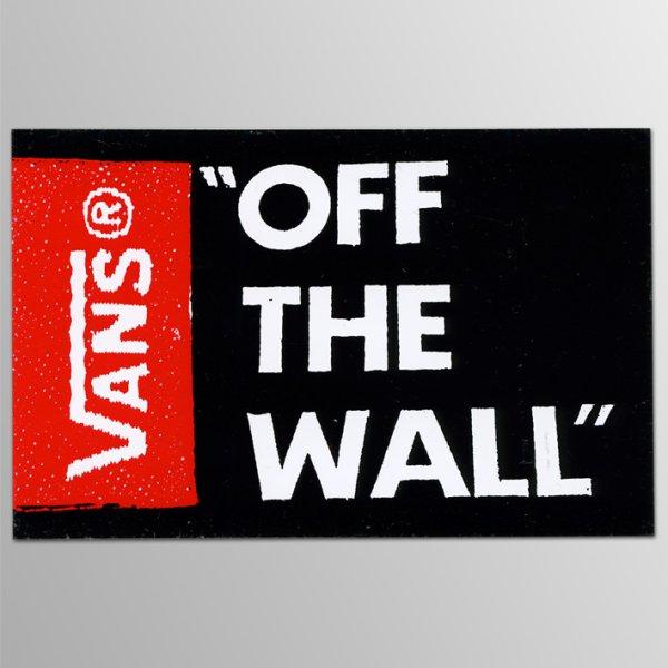 画像1: Vans Shoes/ Off The Wall BK ステッカー (1)