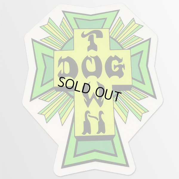 画像1: Dogtown Skates / Cross Logo GR ステッカー (1)