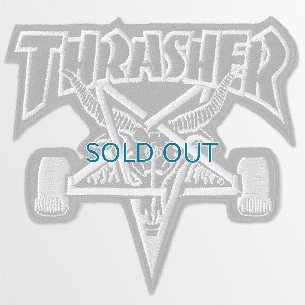 画像1: Thrasher Magazine / Skate Goat Skateboard BK/SL パッチ (1)