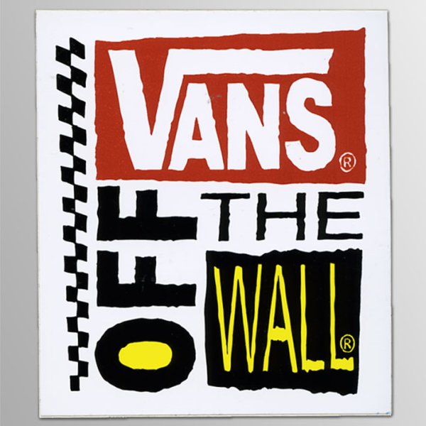 画像1: Vans Shoes / Off The Wall Skateboard Square ステッカー (1)