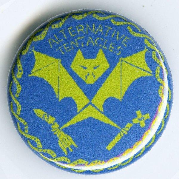 画像1: Alternative Tentacles / Logo (Green On Blue) バッヂ (1)