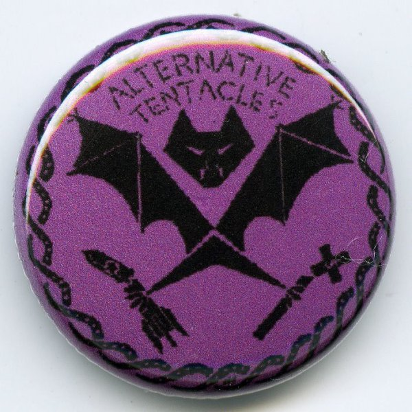 画像1: Alternative Tentacles / Logo (Black On Purple) バッヂ (1)
