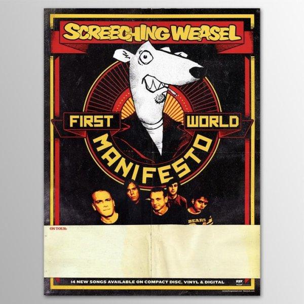 画像1: Screeching Weasel / First World Manifest ポスター (1)