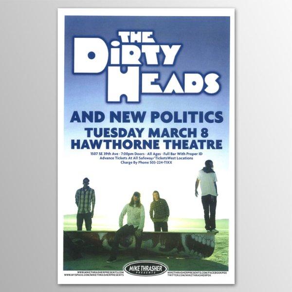 画像1: Dirty Heads / 2011 Hawthorne Theatre, Portland, Oregon Concert ポスター (1)