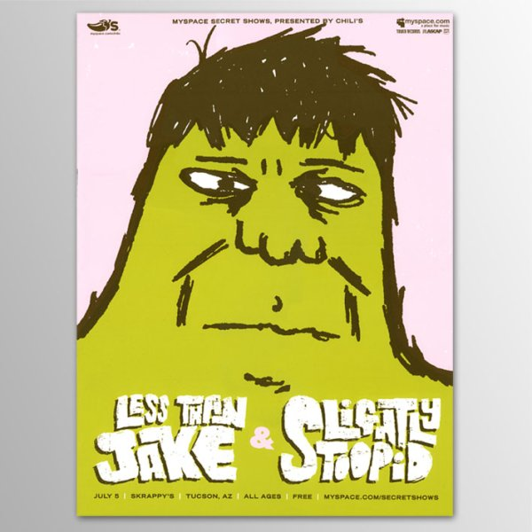 画像1: Less Than Jake / Tucson 2006 ポスター [w/ Slightly Stoopid] (1)