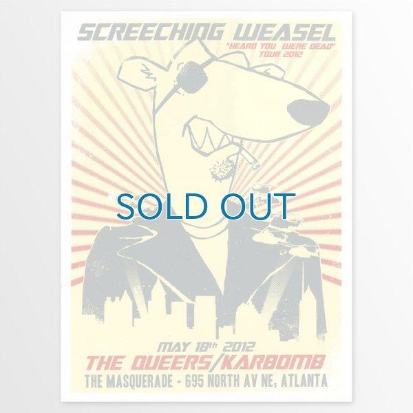 画像1: Screeching Weasel / Heard You Were Dead Atlanta ポスター (1)
