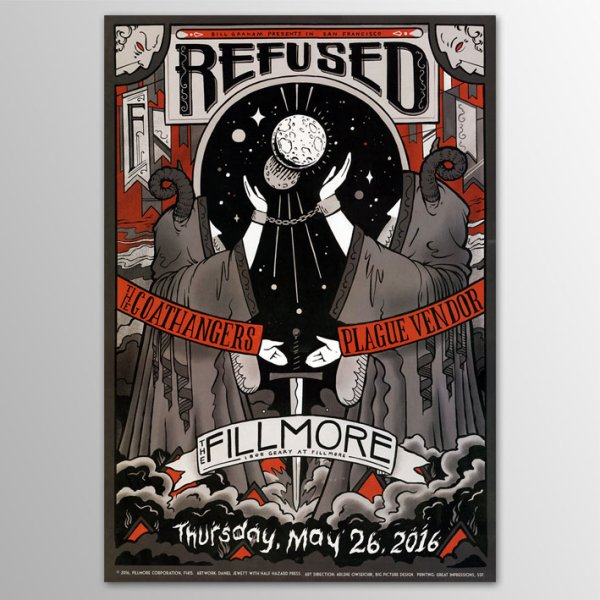 画像1: Refused / Fillmore ポスター (1)