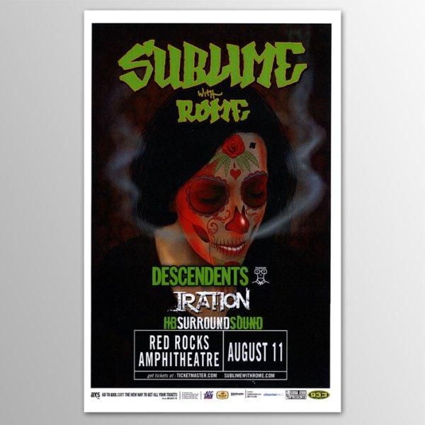 画像1: Sublime With Rome / Red Rocks 2013 ポスター [w/ Descendents, Iration] (1)
