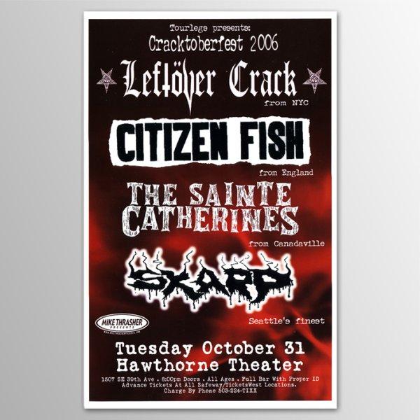 画像1: Leftover Crack / 2006 Hawthorne Theatre, Portland, Oregon Concert ポスター (1)