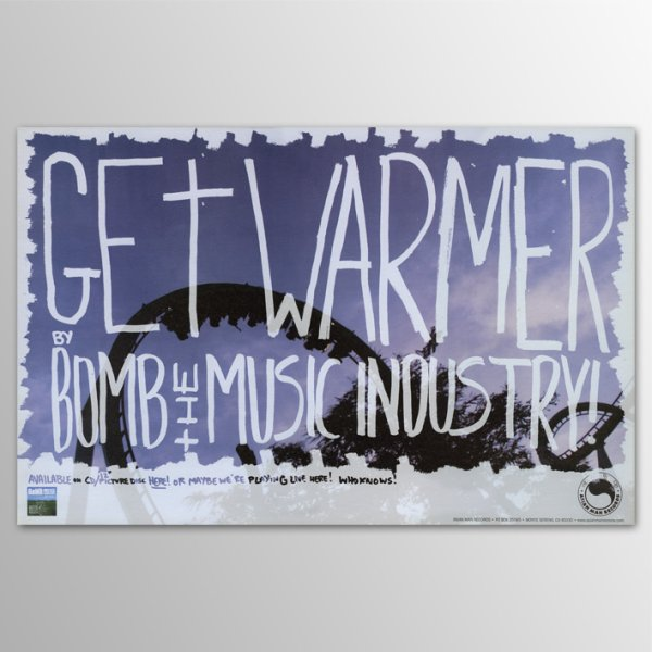 画像1: Bomb The Music Industry! / Get Warmer ポスター (1)