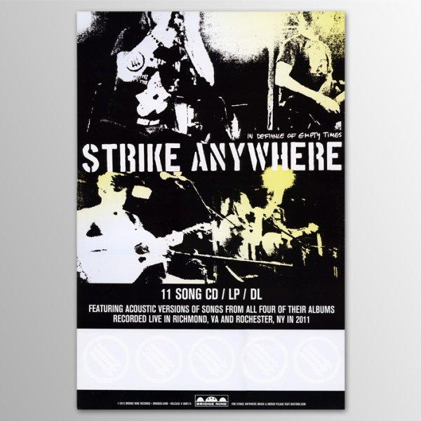 画像1: Strike Anywhere / In Defiance Of Empty Times ポスター (1)