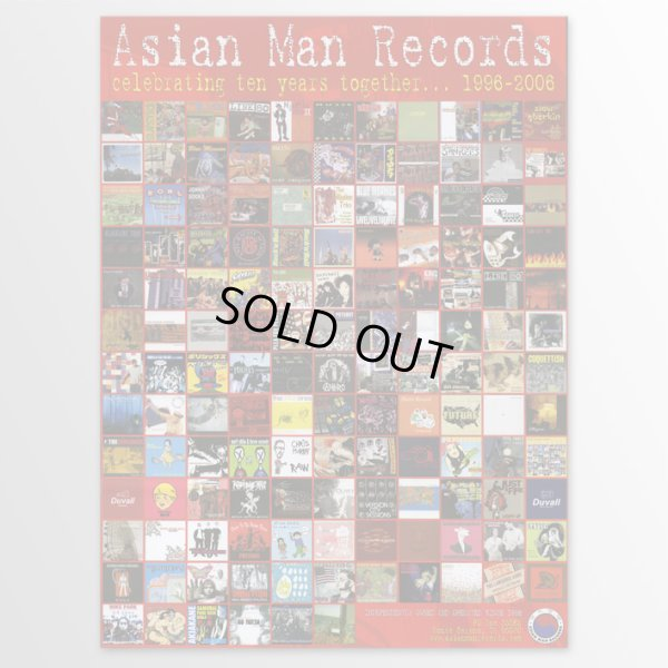 画像1: Asian Man Records / Celebrating Ten Years Together ポスター (1)