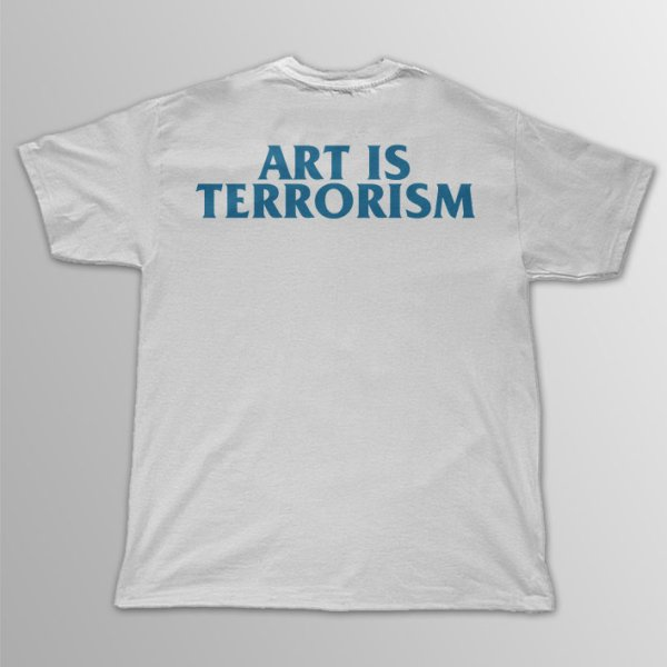 画像1: Punkmart / ART IS TERRORISM ライトブルー T/S (1)