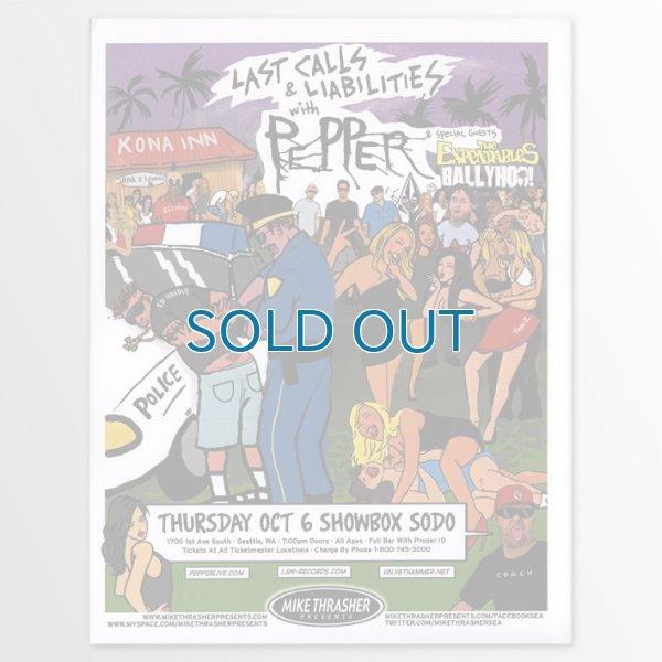 画像1: Pepper / 2011-10-06 Sodo Concert ポスター [w/ The Expendables / Ballyhoo] (1)