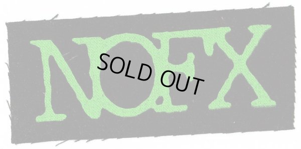 画像1: NOFX / Green Logo Cloth パッチ (1)