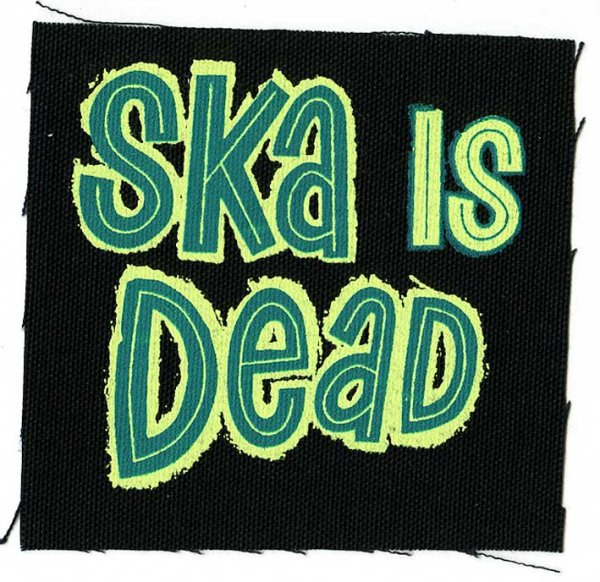 画像1: Ska Is Dead / Green Logo Cloth パッチ (1)