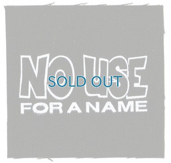 画像1: No Use For A Name / B/W Logo Cloth パッチ (1)