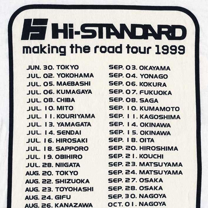 hi standard making the road tour 1999 t s lサイズ punk mart